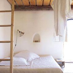 Rustic minimal bedroom.