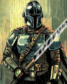 Mundo Geek, Star Wars Pictures, Art Programs, Geek Culture, Best Tv Shows, Star Wars Art, Mandalorian, Clone Wars, Samurai
