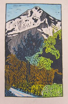 Woodblock Prints Landscapes | TWELVE VIEWS OF LONE CONE