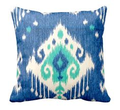 Love a touch of ikat here and there. Decorative Pillow Throw by ReedFeatherStraw, $15.00