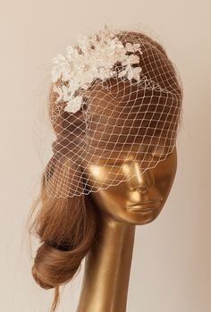 BIRDCAGE VEIL Ivory veil Romantic Wedding by ancoraboutique, $79.00
