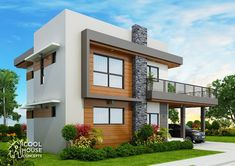 Home design plan with 4 bedrooms.House description:One Car Parking and gardenGround Level: Living room, 1 Bedroom with bathroom, Two Story House Design, Small House Design, Modern House Design, Modern House Plans, Small House Plans, House Floor Plans, Architect Design House, Duplex House Design, Two Storey House Plans