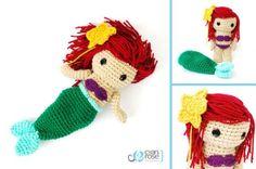 DeviantArt: More Like Ariel, The Little Mermaid. Crochet Amigurumi Doll. by CyanRoseCreations