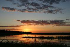 Sunset over #Banhine National Park in #Mozambique. Photo credit: Harry van der Linde.