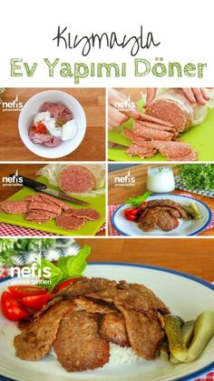 Doner kebab with minced meat at home (video) Delicious recipes # Potato Recipes, Meat Recipes, Mexican Food Recipes, Crockpot Recipes, Vegetarian Recipes, Ethnic Recipes, Pizza Recipes, Fun Easy Recipes, Easy Meals