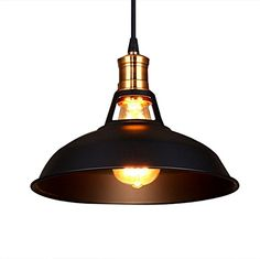 Fuloon Vintage Industrial Ceiling Light 1 Light Metal Shade Loft Coffee Bar Kitchen Hanging Pendant Llight Lamp Shade(bulb not include) (Black) Fuloon http://www.amazon.co.uk/dp/B016BBJG1U/ref=cm_sw_r_pi_dp_06vNwb1QG0E46