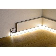 Rail PVC pour plinthe à led L - Home Lighting Design, Lighting Concepts, Ceiling Design, Interior Lighting, Cove Lighting, Indirect Lighting, Linear Lighting, Pvc Railing, Deco Led