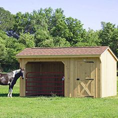 Deer Creek Structures has wide Portable Run-in Horse Sheds available, made from top quality materials. Quick delivery of Pre-built Sheds In Stock to Texas & surrounding areas. Horse Paddock, Horse Stables, Horse Barns, Horses, Horse Shelter, Horse Rescue, Take Shelter, Horse Shed, Horse Gear