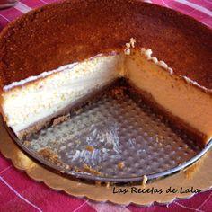 Cheesecake, tarta de queso americana. ~ Las Recetas de Lala