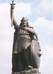 King Alfred the Great Born: c.849 at Wantage, Berkshire. House of: Wessex. Became King: 871  Married: Ealhswith of Mercia  Died: October 26, 899 Buried at: Winchester  Succeeded by: his son Edward    Anglo-Saxon king 871–899 who defended England against Danish invasion and founded the first English navy.He succeeded his brother Aethelred to the throne of Wessex in 871, and a new legal code came into force during his reign.