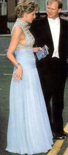 May 20, 1993: Princess Diana at the British Wheelchair Sports Foundation Banquet House, London.