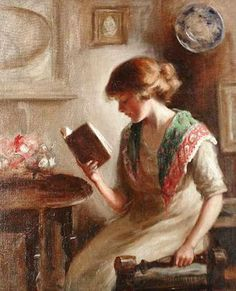 View A Good Book by Mona Hopton Bell on artnet. Browse upcoming and past auction lots by Mona Hopton Bell. Reading Art, Woman Reading, Reading Books, I Love Books, Good Books, Louis Aragon, Books To Read For Women, Creation Art, Book Letters