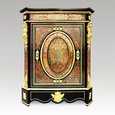 Ebéniste restaurateur de meubles d'appuis Napoléon III en marqueterie Boulle Jean-Yves LE BOT Camblon Saint Jean la Poterie 56 Bretagne France