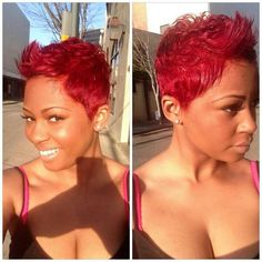 I love red hair so much OMG Short Sassy Hair, Short Hair Cuts, Short Hair Styles, Cute Hairstyles For Short Hair, Pixie Hairstyles, Love Hair, Gorgeous Hair, Hair Affair, Relaxed Hair