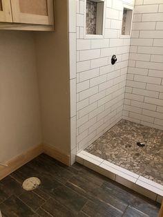 New construction shower and bathroom floor Bathroom Flooring, New Construction, Showers, Bathtub, Standing Bath, Bath Tub, Bathtubs, Bath, Bathroom