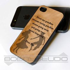 Peter Pan Quotes  iPhone Case  iPhone 4  iPhone 4S  by BobbyStudio, $15.79
