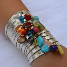 Official Jenny Rabell Online Boutique Multicolor 14 Strand Gold Cuff Official Jenny Rabell Online Boutique