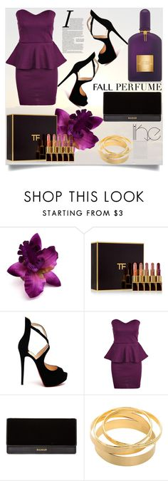 """Fall Perfume"" by anilia ❤ liked on Polyvore featuring beauty, Tom Ford, Christian Louboutin, Balmain and fallperfume"