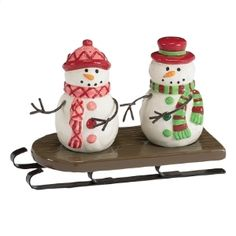 New Salt and Pepper Shakers Snowman Snow Man Christmas Holiday Boston ...