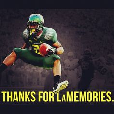 LaMichael created many of them, including this pose after a back-breaking TD run vs. Stanford at Autzen Stadium in 2011.