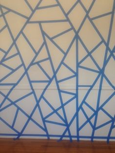 Looking to design a modern baby room? Check out this 'out of the box' mosaic design with an inspiring starburst and pinwheels. Step Choose the colors you wa… Diy Wall Painting, Tape Painting, Mosaic Designs, Paint Designs, Geometric Wall Paint, Tape Wall, Bedroom Wall Designs, Bedroom Ideas, Faux Brick Walls