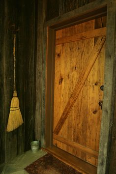 Wooden Door Leading into our Chestnut Cabin