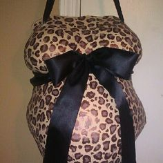 Leopard design with black ribbon belly cast