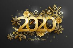 New Year 2020 Background With Realistic Golden Decor New Year Wishes Images, Happy New Year Pictures, Happy New Years Eve, Happy New Year Quotes, Happy New Year Wishes, Quotes About New Year, Happy New Year 2019, New Year Greetings, New Year 2020