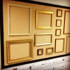 Picture frame art gallery for sharing mark making