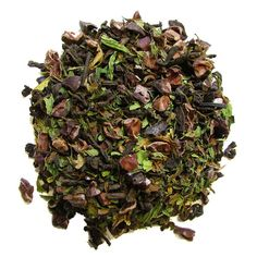 Organic Mint Cocoa Pu-Erh Loose Leaf Tea | Full Leaf – Full Leaf Tea Company  Full Leaf's Organic Mint Cocoa Pu-Erh blend has a mint cocoa taste making it impossible to stop at just one cup!  Spearmint leaves bring a sweet mint taste to the combined earthy flavor of cocoa and pu-erh. #puerh