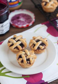 Mini Peanut Butter and Jelly Lattice Pies