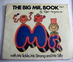 THE BIG MR.BOOK No.1 by ROGER HARGREAVES PAPERBACK VINTAGE BOOK