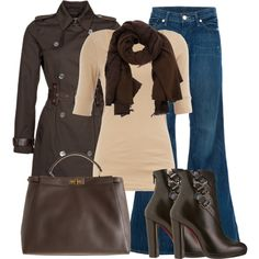 """Brown and Tan"" by nichole-menard on Polyvore"