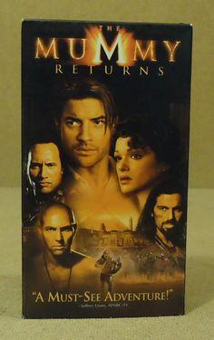 Universal The Mummy Returns VHS Movie * Plastic Paper -- Used