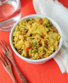 Curried Chicken & Veggie Brown Rice Bowl--pair this with a salad for a well-rounded meal.