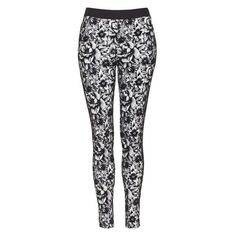 TopShop Floral Print Treggings ❤ liked on Polyvore featuring pants, leggings, skinny pants, legging pants, skinny leg pants, knit leggings and floral printed leggings