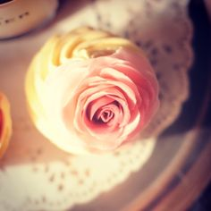 Rose cupcake by Juniper Cakery #junipercakery #cupcake #cupcakes #cake #cakes #rose #rosecupcake #pink #ombre #ombrerose