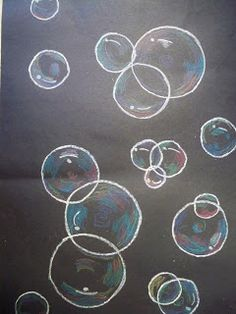 how to draw water bubbles