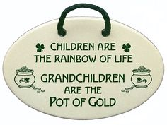 Children are the rainbow of life. Grandchildren are the pot of gold. Ceramic wall plaques handmade for over 30 years in the USA. Overstock price. >>> Hurry! Check out this great product : Home Decor Plaques