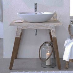 Lovely table for a special bathroom
