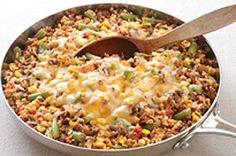 Préparé avec du bœuf haché épicé, ce repas rapide est tendre, relevé et délicieux.