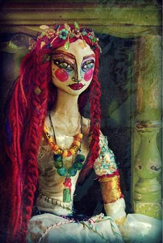 """The Lady of Shallot""~ Art Doll by Merle Pace"
