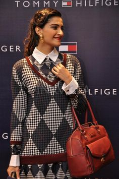 Sonam Kapoor launches Tommy Hilfiger's Fall Holiday collection.