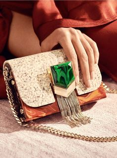 d5365aba58d34 The LOCKETT MINAUDIERE in natural mix stone effect with tassel lock is a  stunning, one of a kind evening clutch. Like its own piece of art, the  detachable ...