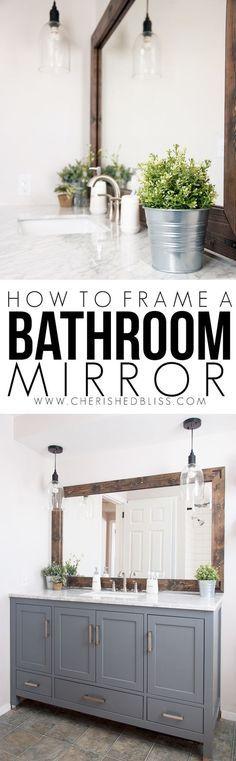How to Frame a Bathroom Mirror!