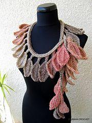 "Ravelry: Scarf Lariat ""Autumn Leaf Fall"" Tutorial pattern by Lyubava Crochet"