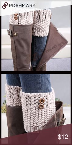 SALE‼️Buttoned Boot Cuffs Stylish tan boot cuffs. Only one available! Price firm unless bundled. Accessories Hosiery & Socks