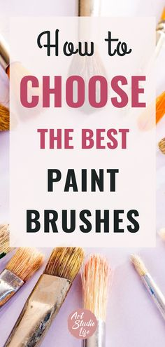 There are a variety of different brushes available for oil painters. All of them serve a variety of different purposes. From round, flat, bright, filbert, fan and liner tips - discover the different types in detail. #oilpaintbrushes #oilpaintingbrushes Oil Paint Brushes, Paint Brush Art, Watercolor Brushes, Brush Type, Flat Brush, Natural Hair Brush, Oil Painting For Beginners, Wash Brush, Types Of Painting