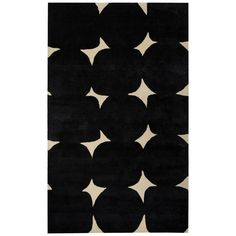 the mod motif circles and squares of this hand-tufted wool and art silk rug make it contemporary art for your floor.