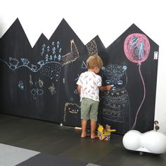 """181 Likes, 15 Comments - JUJUZOZO (@jujuzozokids) on Instagram: """"If you've ever wanted to make a DIY chalkboard wall check out my latest blog entry! It's super…"""""""